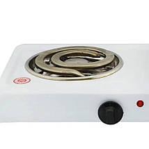 Электроплита DOMOTEC MS-5532 двойная - настольная электрическая плита на две конфорки с широкими тэнами, фото 3