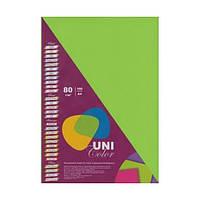 Бумага цветная А4 Uni Color (80 г/кв.м.) 100 лис., интенсивный зеленый