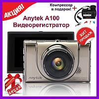 Видеорегистратор Anytek A100 3-дюймовый IPS 1080P 170 градусов автомобильный бюджетный, фото 1