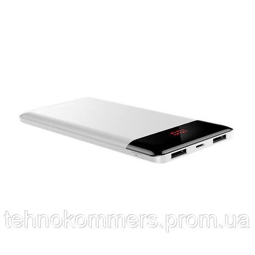 Зовнішній акумулятор Baseus Mini Cu Digital Display 10000 mAh White, фото 2