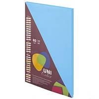 Бумага цветная А4 Uni Color (80 г/кв.м.) 100 лис., интенсивный синий