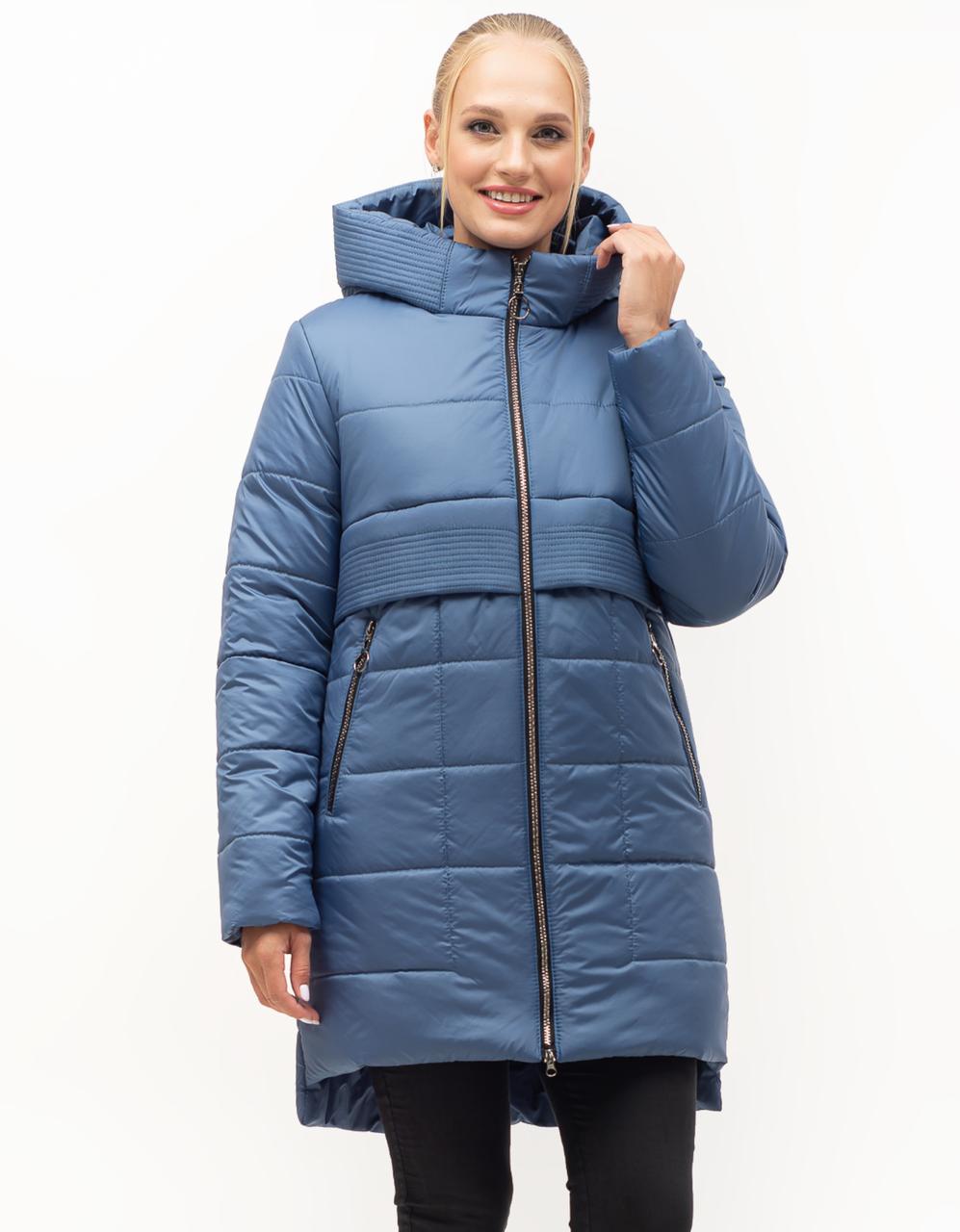 Стильная молодежная зимняя куртка с капюшоном больших размеров