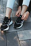 Мужские кроссовки в стиле Adidas Ozweego (Black/White), Адидас Озвиго (Реплика ААА), фото 4