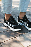 Мужские кроссовки в стиле Adidas Ozweego (Black/White), Адидас Озвиго (Реплика ААА), фото 2