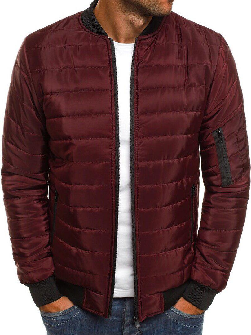 Чоловіча весняна куртка стьобана без капюшона стильна