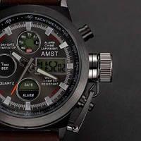 Мужские наручные армейские часы AMST Watch, кварцевые часы! Хит