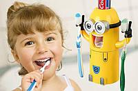 Дозатор для зубной пасты с держателем для щеток Миньон! Скидка
