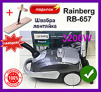 Пылесос с мешком Rainberg RB-657 пылесос Раинберг 3200W Пылесос с мешком для пыли. Мешковой пылесборник 5 л, фото 1