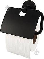 Держатель для туалетной бумаги Haceka Kosmos Black, закрытый
