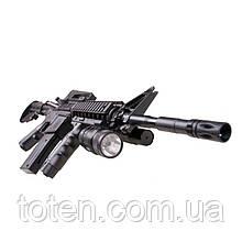 Автомат штурмова гвинтівка Пневматична P. 1158В+ Знімна сошка, лазерний приціл, ліхтарик, кульки 6 мм ігрова