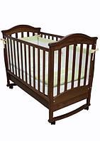 Детская кроватка Соня ЛД 3 маятник + шухляда (орех)