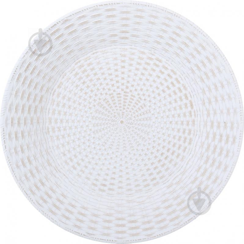 Поднос для хлеба Плетение белая 40х40х1,5 см
