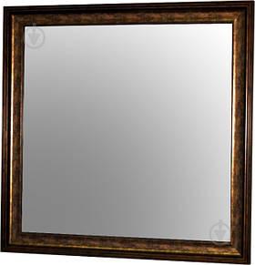 Зеркало X7 WE5385-1711 в коричневой багетной раме 70х70 см