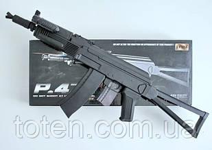 Пневматичний Автомат AK-47 c прикладом Cyma P47A з ліхтариком і прицілом