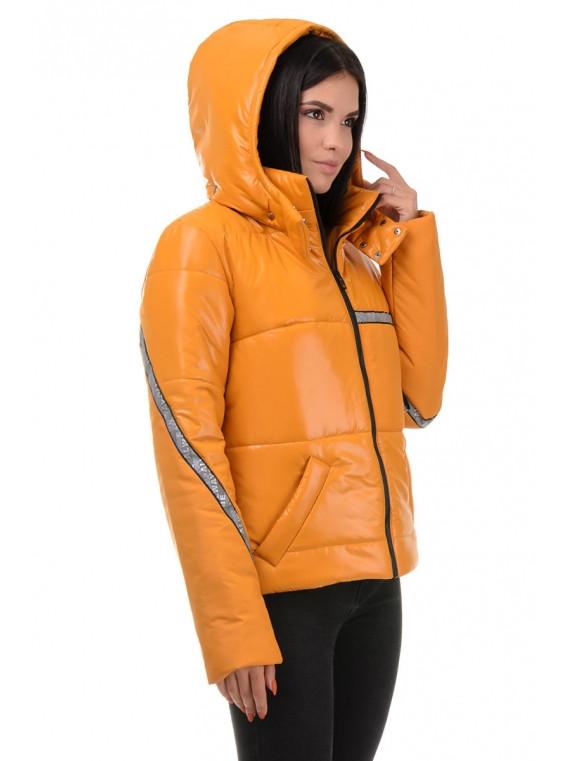Модна молодіжна жіноча коротка куртка з капюшоном Пудра 42,44,46,48 розмір