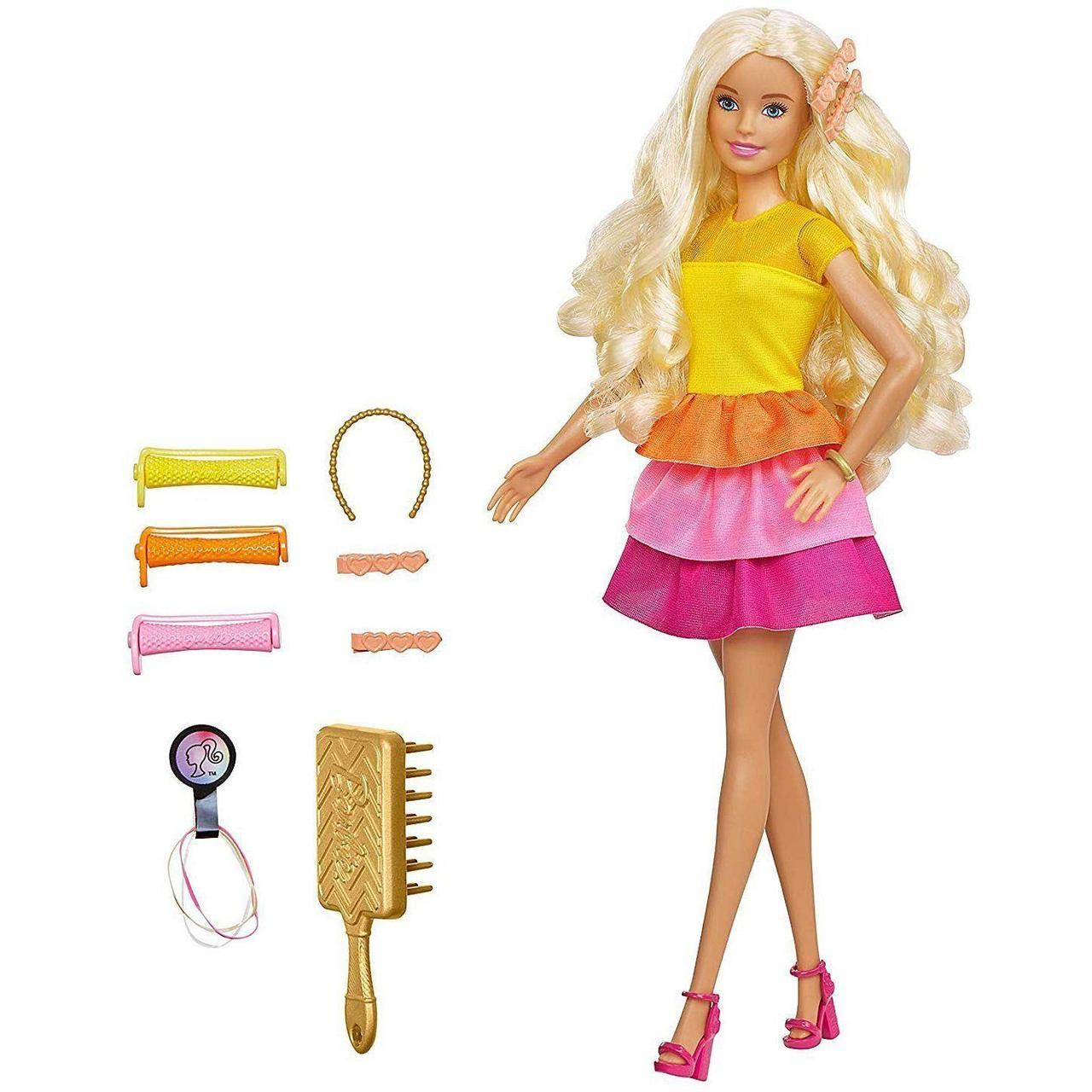 "Barbie Кукла с аксессуарами ""Барби Невероятные кудри"" Ultimate Curls GBK23 GBK24"