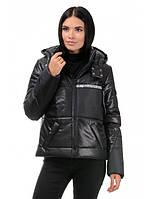 Модная молодежная женская короткая куртка с капюшоном Пудра 42,44,46,48 размер
