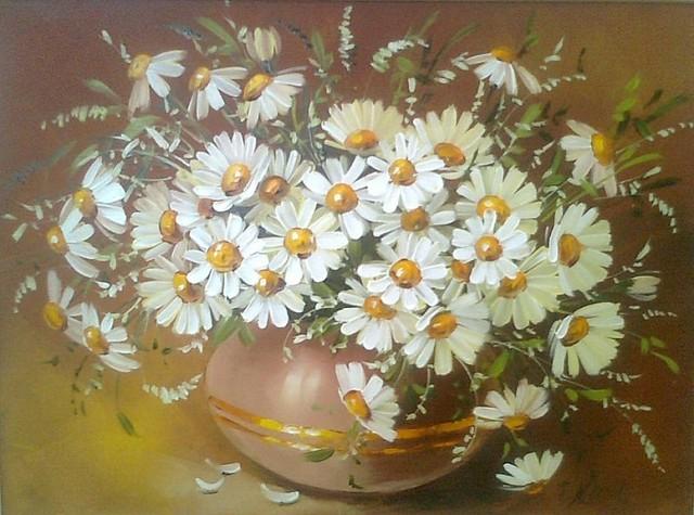 Цветы живопись маслом