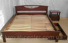 """Кровать """"ФАНТАЗИЯ"""" (с кованным элементом). Массив - сосна, ольха, дуб."""