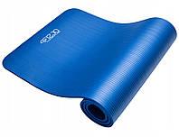 Коврик (мат) для йоги и фитнеса 4FIZJO NBR 1.5 см 4FJ0112 синий. Коврик для спорта, каремат