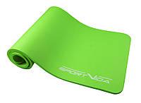 Коврик (мат) для йоги и фитнеса SportVida NBR 1 см SV-HK0248 зеленый. Коврик для спорта, каремат