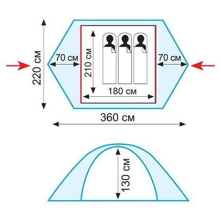 Трехместная палатка Tramp Sirius 3 (V2) TRT-057, фото 2