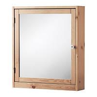 SILVERÅN Шкафчик зеркальный, светло-коричневый