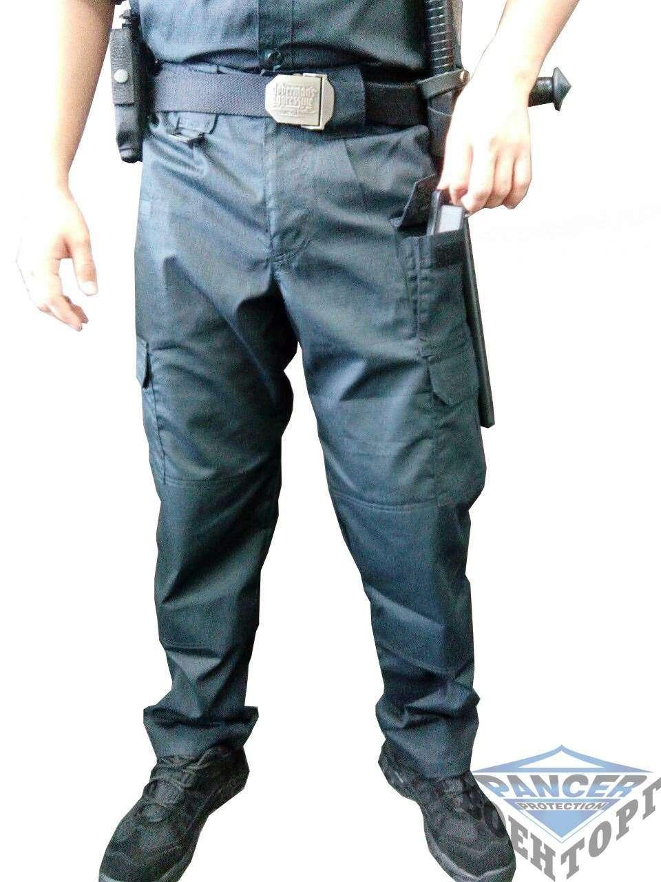 Тактичні штани ріп-стоп чорні Pancer