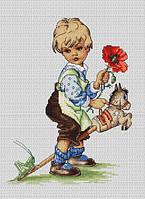 """Набор для вышивания крестом """"Luca-s"""" B1102 Мальчик"""