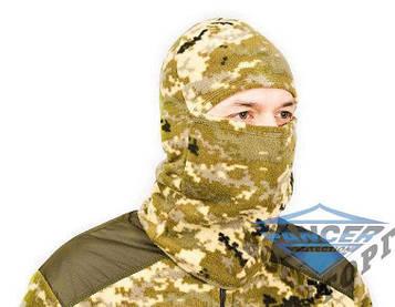 Балаклава флисовая зимняя 260гр/м, пиксель ВСУ Pancer
