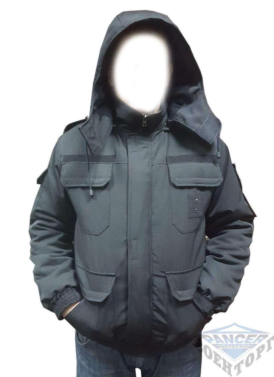 Куртка чорний бушлат для охорони -20 C Pancer