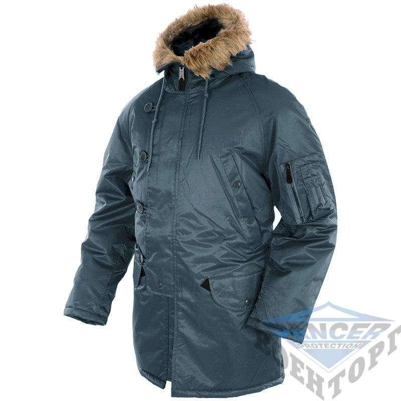 Куртка Аляска синя N3B Pancer