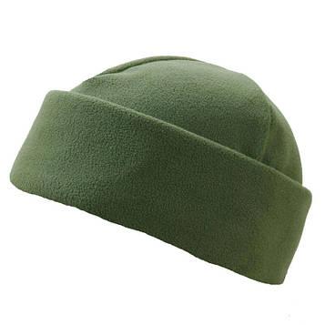 Зимова шапка олива подвійний фліс Pancer