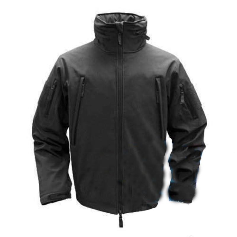 Куртка тактическая черная Soft shell Pancer