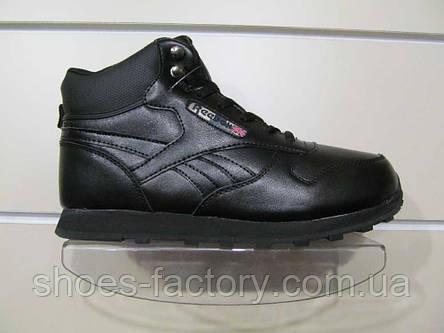 Кроссовки зимние в стиле мужские Reebok Classic Leather, фото 2