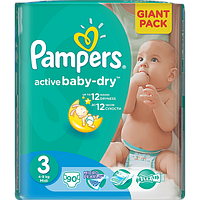 Подгузники Pampers Active Baby (3) Midi 4-9кг 90 шт.