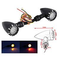 Світлодіодні повороти мото зі стоп-сигналом, мото Vintage 12В, LED 2 Вт, TRL 2107, фото 1