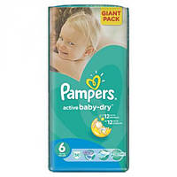 Подгузники Pampers Active Baby (6) extra large 15+ кг 56 шт. Giant pack