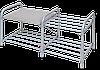 Этажерка для обуви ЭТЛ1 2-х ярусная, сиденье мягкое, винилскожа - металлический усиленный каркас
