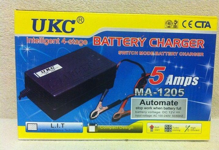 Зарядний пристрій для автомобіля 12 вольт 5 ампер, UKC Battery Charger 5A
