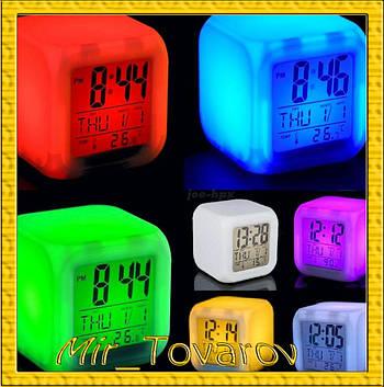 Годинник світильник Хамелеон CX508 будильник термометр