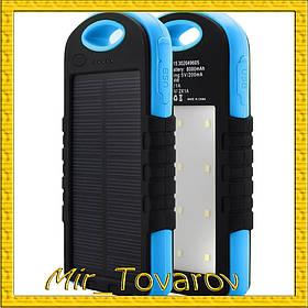 Сонячне портативний зарядний Power Bank 30000 + ЛІХТАРИК 12 ДІОДІВ
