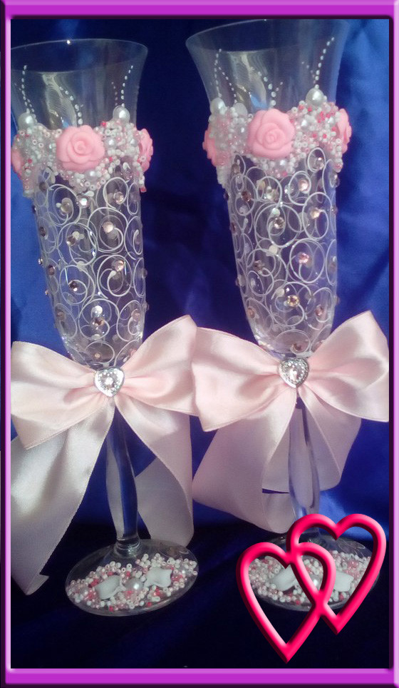 Свадебные бокалы Roses 6547