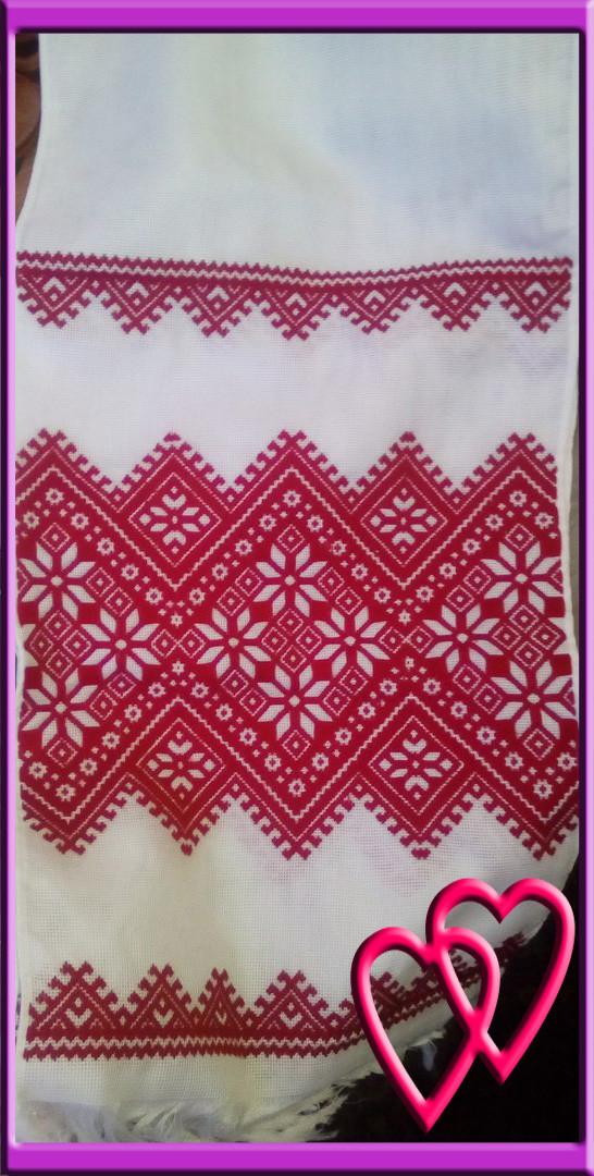 Свадебный рушник ручной работы 200*35 см, гладь