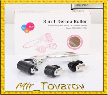 Масажний мезороллер DERMA-ROLLER 3в1