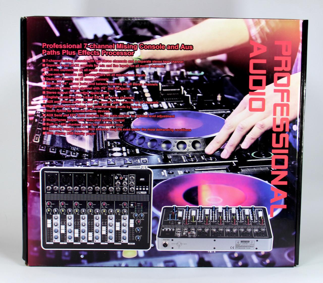 Аудіо мікшер Mixer BT7000 7ch. 5