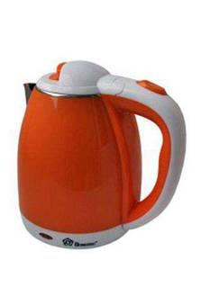 Чайник нерж. 2,0 л 1500Вт Domotec помаранчевий 5022O