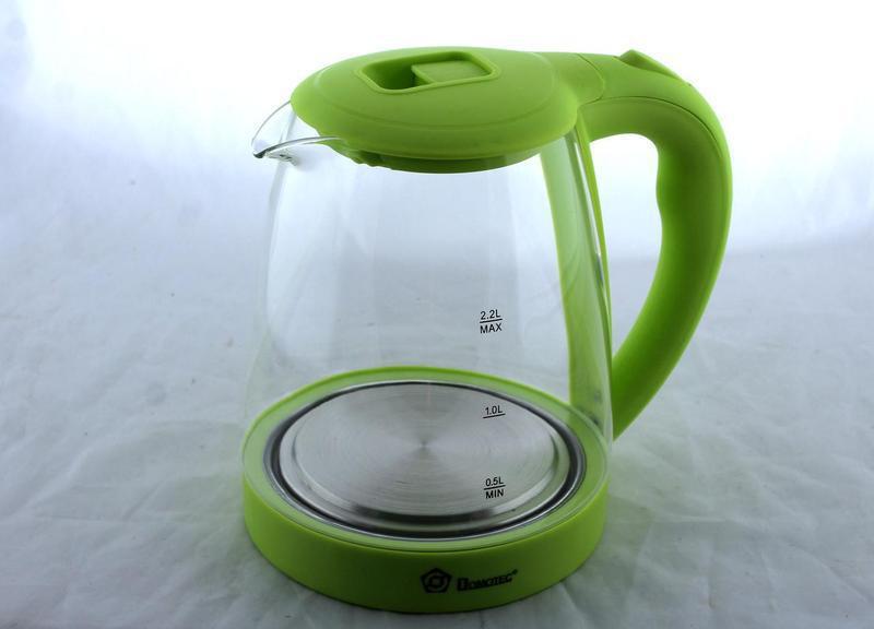 Електричний чайник Domotec MS 8212 салатовий з LED підсвічуванням