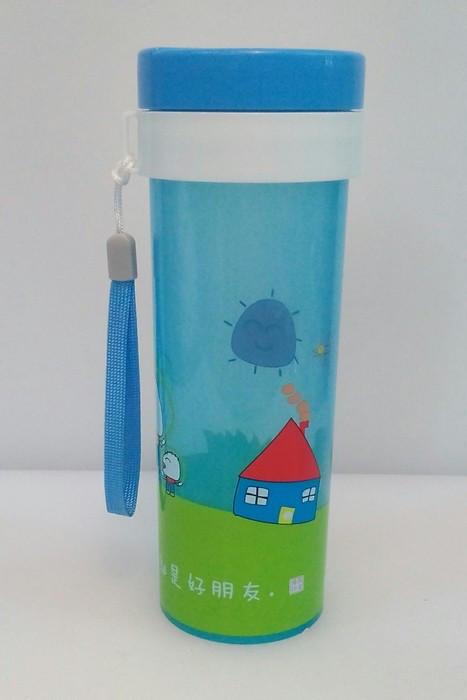 Бутылка пластиковая круглая для воды и напитков V 450 мл (шт)
