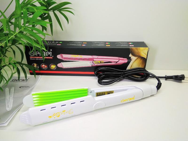 Щипці гофре для волосся Gemei GM-2957A